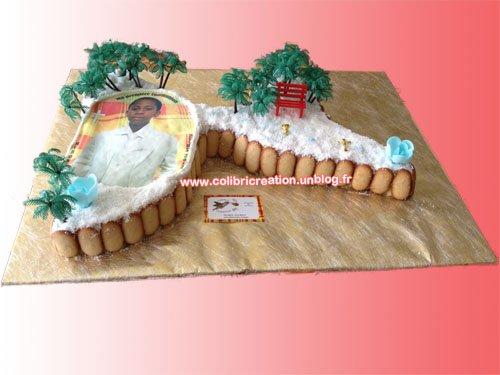 Gâteau carte guadeloupe · Réalisation Gâteaux Antillais